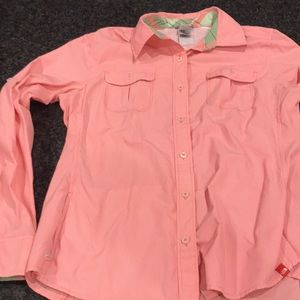 Like new size large north face button up shirt